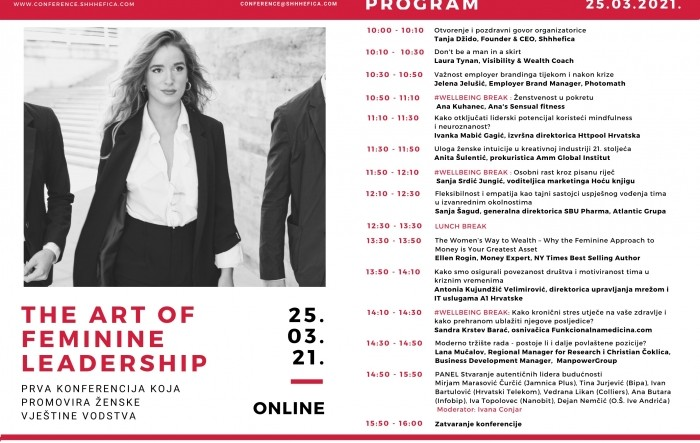 Objavljen program trećeg izdanja konferencije The Art of Feminine Leadership